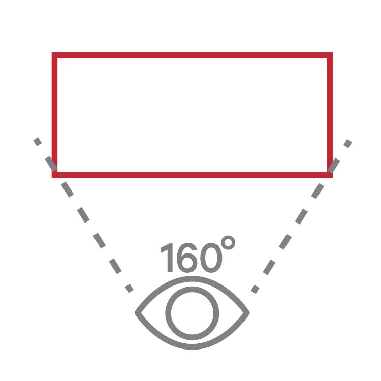 160° viewing angle