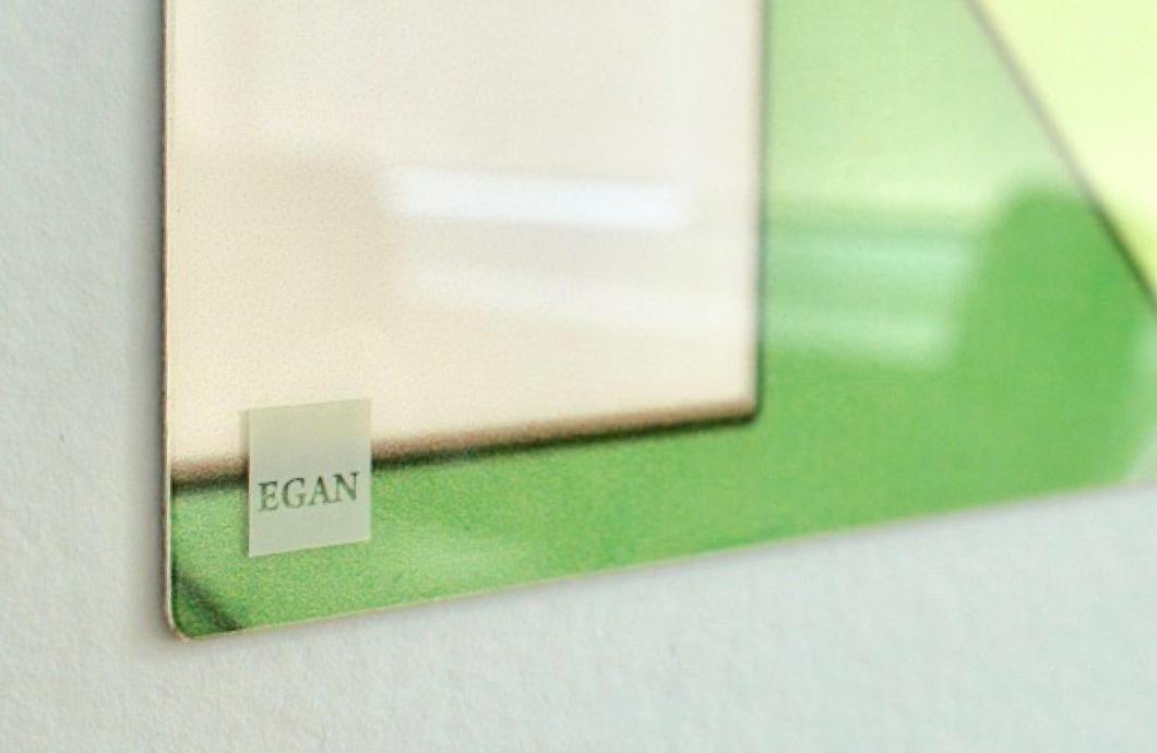 Egan Logo On Glass