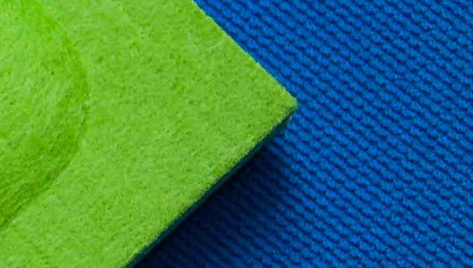 Corner of a Green Acoustic Panel