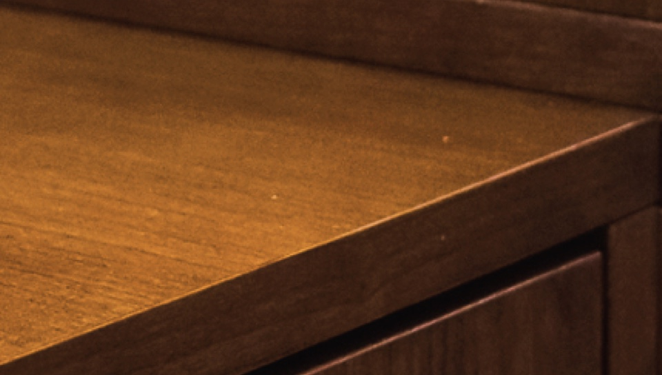 Wood Cabinet Extreme Close Up