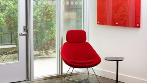 Red Chair and Red GlassWrite